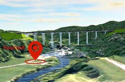 Angelstad: Vil få ei bro som rager 50-60 meter over bakken, og kobler seg på eksisterende E18 ved Rømyr. Området som er merket med rødt er Fosstveit.
