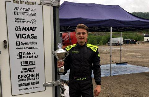 Ny seier: Even Heggelund er i seiersmodus om dagen, og takker alle sine sponsorer og familieteamet for noen fantastiske uker.