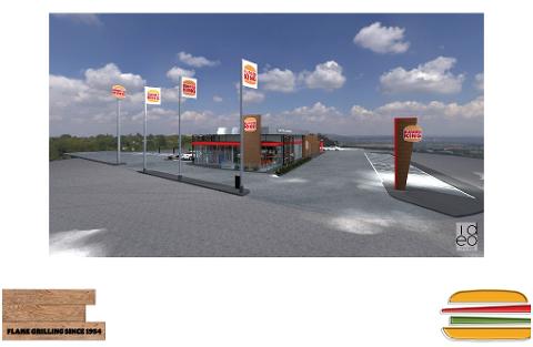 SÅNN BLIR DET: Slik er restauranten tenkt å se ut. Illustrasjon: Burger King