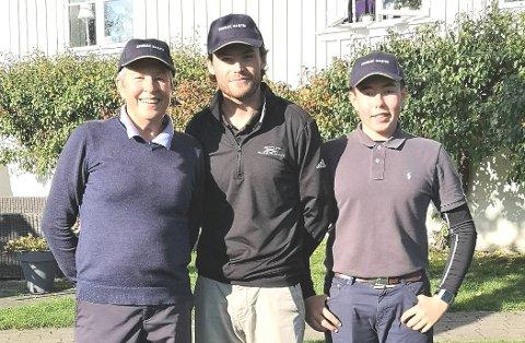 Årets golfmestere i Drøbak er Arna Skauge, Philip McGowan og Felix Dalen.