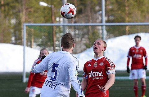 MATCHVINNER: Fredrik Grue Mælen ble matchvinner med sin første scoring for Tynset, da laget slo Svorkmo 2-1 på bortebane lørdag.
