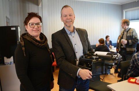 Rådmann Olaug Haugen og Bjørn Sletbakk.
