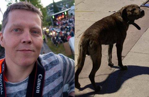 RANET: Jan Robert Undlien ble utsatt for grovt ran med kniv og hund. Eieren til «Charlie» er tiltalt for å ha beordret han til å angripe.