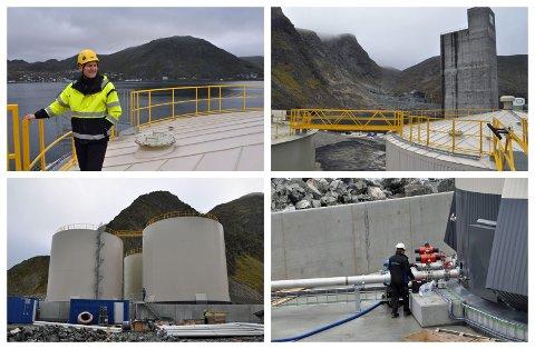 KOBBHOLA: Havneinspektør Fredrik Helgesen er ikke helt klar for å åpne kranene, men navnet er på plass i alle fall.