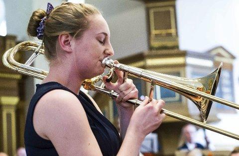 Siste vinner:  Karoline Trondsen fra Hvaler fikk 25.000 stipendkroner i januar for sitt talent med trombone. Nå kan du søke om «Syng med vårs»-midler for 2016.Arkivfoto:  Johnny Leo Johansen