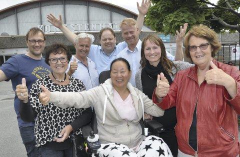 Deler av arrangementskomiteen: De ønsker velkommen til Oase-stevne i Kongstenhallen. Arkivfoto: BoJo Hermansen