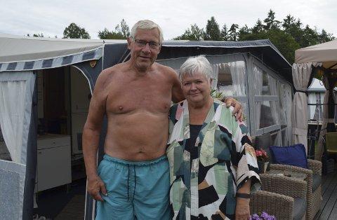 Må ha endring: I 35 år har Rolf og Sidsel Østerbø brukt somrene til camping ved Enhuskilen.foto: elias kristian zahl-pettersen