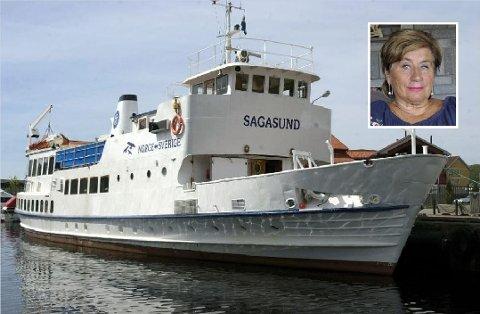 Fru Bjørg Lier fortalte i Fredriksstad Blad om da ekteparet og et vennepar ble nektet servering på MS Sagasund.