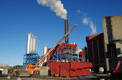 Seks ukers stans neste år: Frevar må stenge energigjenvinningsanlegget for å koble opp det nye anlegget for røkgassrensing. Det gir tapte inntekter i 2019. (Arkivfoto: Øivind Lågbu)