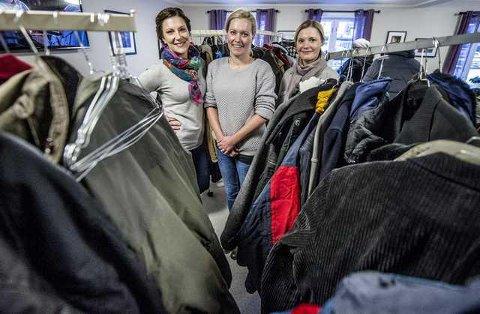 Vil fortsette. Cecilie Schibsted  Eriksen ( til venstre), Marita Hauge Granholt og Kristine Nordsted lover å komme sterkt tilbake med Prosjekt Vintejakker neste år.