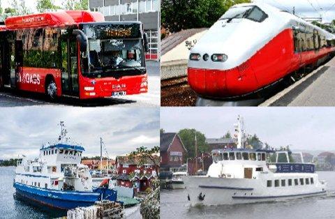 GRATIS: Lørdag 27. april er både bussen i Nedre Glomma, toget mellom Fredrikstad og Sarpsborg og Hvalerferga gratis. Det samme er MS Skjærhalden, som vil kjøre mellom Fredrikstad og Sarpsborg denne dagen.
