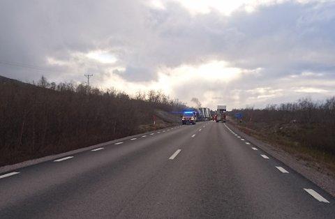 FÅTT SLUKKET: Like etter klokken sju meldte politiet i Sverige på sine nettsider at brannen skal være slukket.