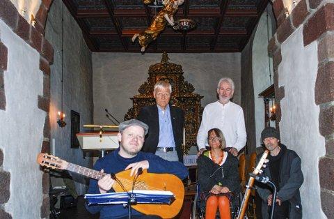 Kammerpoetane: (f.v.) Simen Kjærdalen, Oddbjørn Aardalen, Anne Elisabeth Danielsen, Ole Horvli og Jan Sørensen.