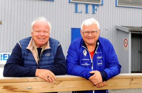 LIF-veteranene Harald Moen (t.v.) og Arild Kjæreng er klare for å gjennomføre et prikkfritt stafett-NM kommende helg.