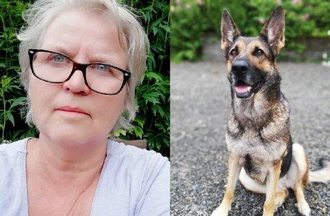 AKUTT SYK: Hunden til Ingrid Stadheim ble akutt syk da hun badet i Mjøsa fredag. Heldigvis gikk det bra.