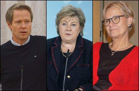 IKKE FORNØYD: Verken Harald Tyrdal (t.v.) eller Randi Eek Thorsen (t.h.) er særlig tilfreds med at regjeringens nye vaksineringsstrategi vil gå ut over innbyggerne i Lunner og Gran kommune.