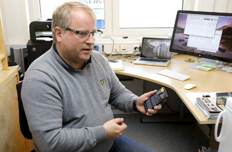 GODT I GANG: Jan Thore Lippestad har etablert Driftsystemer AS, og leid kontor i Norheim næringspark. Etter måneder med utvikling og pilotprosjekt, er han nå ute for å selge. Lippestad vurderer å få med investorer for videre vekst av selskapet.