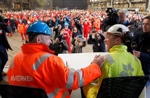 I mars signerte Statoil og Kværner kontrakt på Stord. Nå er de enige om mer arbeid.  Arkivfoto:  Harald Nordbakken