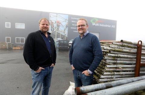 Fra venstre: Grunnlegger og majoritetseier av Multi industrier a/s  Rune Johan Simonsen og daglig leder John Steinar Pedersen.