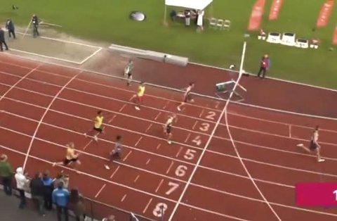 UM friidrett 2017 i Fana Bergen. Atle Skundberg 3. plass på 100m i G16