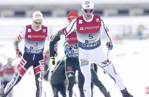 KOMMER: Seks løpere fra kombinertlandslaget kommer til Helgeland på turne. Jan Schmid ble nummer to sammenlagt i verdenscupen i år.