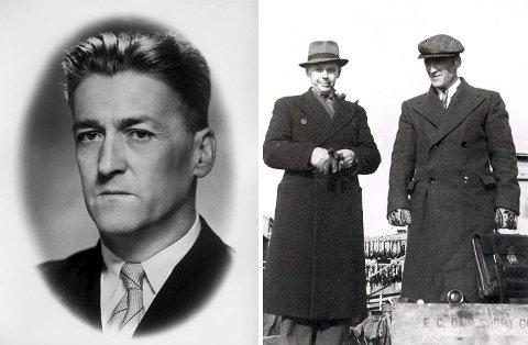 REDAKTØR:  Bildet til venstre av Peder Holt er hentet fra Finnmarkens redaktørgalleri. Bare 24 år gammel ble Holt redaktør i avisa. Han satt helt til 1940 da han nektet å underskrive lojalitetserklæring til nazistene. Til høytre ser vi Peder Holt sammen med Hans Gabrielsen, som var fylkesmann før krigen.