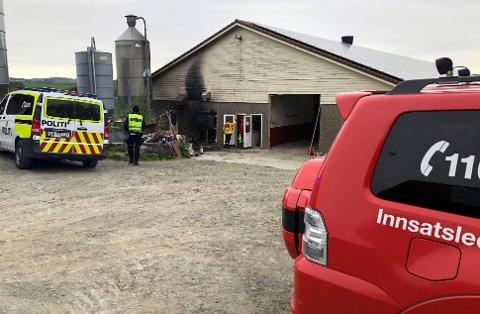 Brannvesenet fikk raskt kontroll på brannen. Ingen personer eller dyr kom til skade.