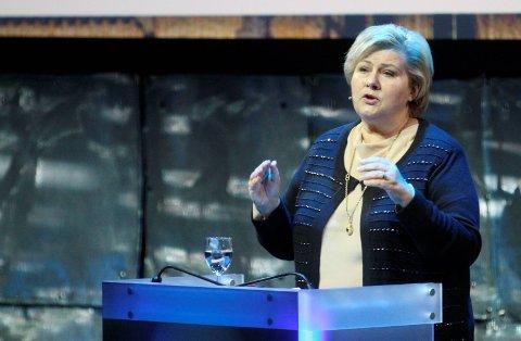 Lar seg ikke presse: Erna Solberg kan stille kabinettsspørsmål i Stortinget. Foto: Pål Nordby