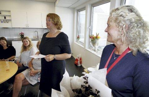 Åpnet nytt Nav: Nav-direktør Hanne Seberg og Nav-leder Elisabeth Stokke under åpningen 23. mai. Foto: Pål Nordby