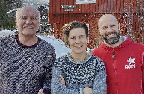 Topp tre Rødt: 1. plass Lars Gunnar Lingås, Christine Rødal på tredjeplass og Kristian Jahren Øvretveit på andreplass.pressefoto
