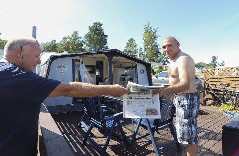 Direkte informasjon: Både nyhetsmessig og i forhold til sammenslåingen. Foto: Ulrikke G. Narvesen