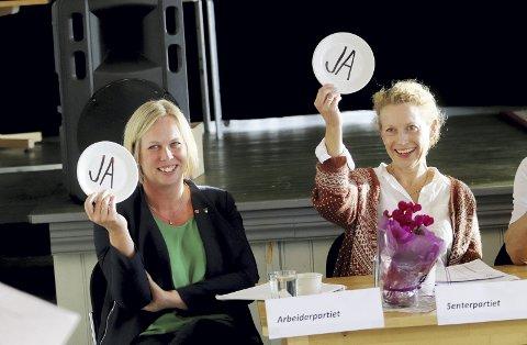Ja: – Vi skal holde valgløftene, var dette svaret på under debatten i Eidsfoss. Foto: Pål Nordby