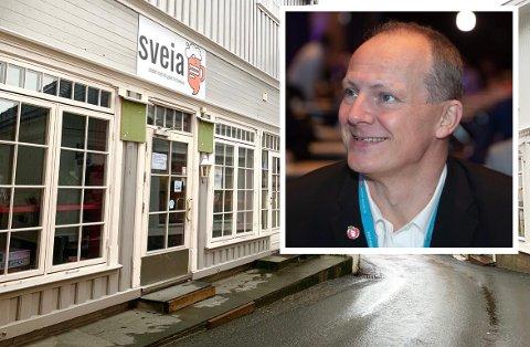 FRP-TOPP: Tidligere samferdselsminister Ketil Solvik-Olsen er styremedlem og medeier i FutureXchange AS, som har forretningsadresse i P.A. Heuchs gate 20 i Kragerø sentrum. Selskapet har ingen tilknytning til Sveia AS, som leier lokalene.