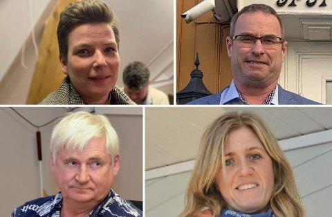 AVSLUTTER SAMARBEID: Henriette Fluer Vikre, Thorleif Fluer Vikre, Ellef Ellegård og Henny Nesland har besluttet å ikke lenger være del av posisjonen.