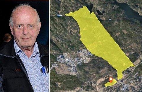 EIERSKIFTE: Grunneier Odd Bjørn Rønning vil overdra den 2096,4 mål store eiendommen til Humlestad Østre AS, et selskap som er under stiftelse.