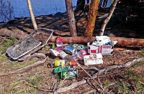 SØPPEL: Ønsker folk at Kjennerudvannet fortsatt skal være en perle, spør Hans Christian Helle