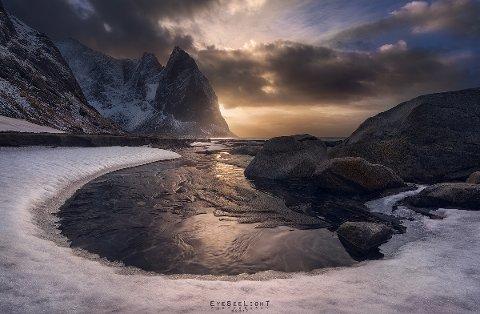 BLE PREMIERT: Det ble sendt inn nesten 5.000 bilder til konkurransen. Da er det slett ikke verst å havne på topp ti. Dette bildet ble tatt i Lofoten i mars 2017.