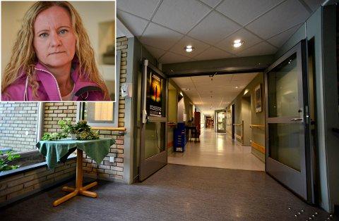 Bekymret: Norsk Sykepleierforbund Buskerud  avdekker at Kongsberg har størst sykepleiermangel i Buskerud, etter en kartlegging i mars fra blant annet Skavangertun. Heidi Hvaal, tillitsvalgt for Norsk Sykepleierforbund i Kongsberg, er redd det går utover pasientene.