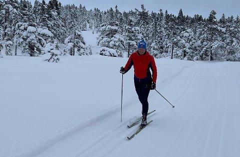 IMPONERTE: Gro Siljan Hjukse gikk på ski i 23 timer. FOTO: PRIVAT