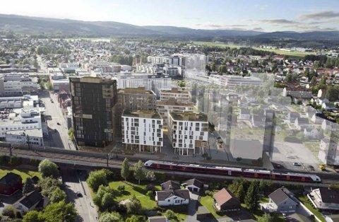 OPPKJØP: Oslo-firmaet Tellus AS kjøpte alle 82 leilighetene i ett av byggene i Dovrekvartalet i Lillestrøm.