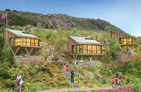 Hyttene er preget av store viduer, noe arkitektene opplever stor etterspørsel på.