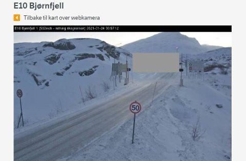 Grenseovergangen på Bjørnfjell, søndag 24. januar.