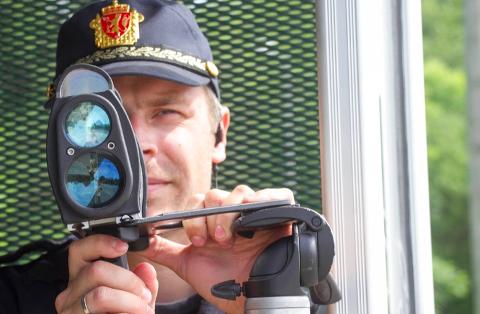 SKOLANDSVANNET: UP gjennomførte onsdag kveld en fartskontroll ved Skolandvannet i Lyngdal.