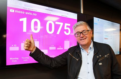 Redaktør Pål Enghaug kunne for en tid tilbake konstarere at Moss-avis.no har passert 10.000 aID-brukere.