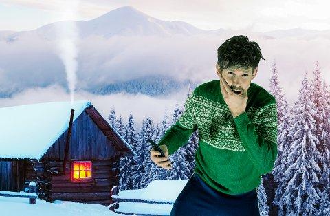 HYTTEPÅSKE: Anders «Rø'berr» Røberg har lagd festlåt for folk til fjells, men den kan også spilles i lavlandet. (Pressefoto)