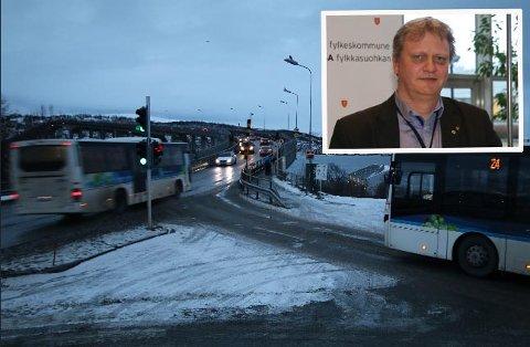 REKORDÅR: Til tross for mye veiarbeid og forsinkelser, blir bybussene mer og mer tatt i bruk i Tromsø, sier Ivar Prestbakmo (innfelt).
