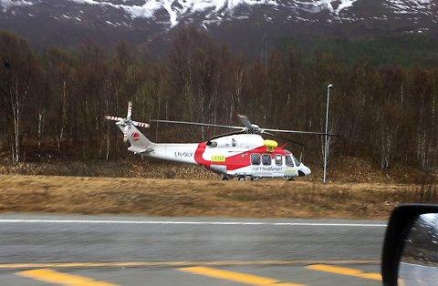 Helikopteret sto ved Nordkjosbotn.