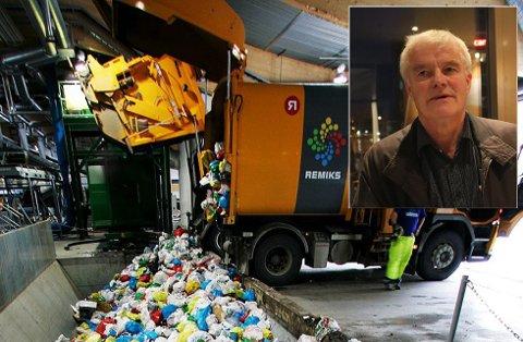 SKEPTISK: I mai starter Remiks med utrullingen av 15.000 nye søppeldunker i Tromsø. Tor Egil Sandnes (Frp) er skeptisk til den nye ordningen.