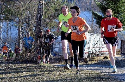 Liv Thorseng i fint driv i sesongens første løp i Landkarusellen. Foto: Privat