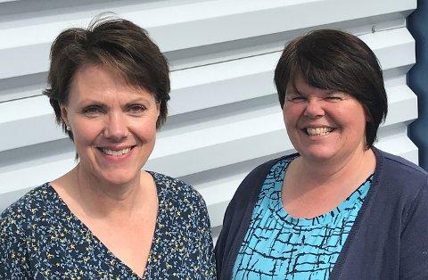 BAK DISKEN: Da Topro besluttet å legge ned Vitent-butikken (tidligere Toproshop) tidligere i år, sto Maske Bandagist AS klare til å overta. Stomisykepleier Unni Løkken (f.v.) og konsulent Ann Pia Pettersen følger med over fra den gamle til den nye butikken.